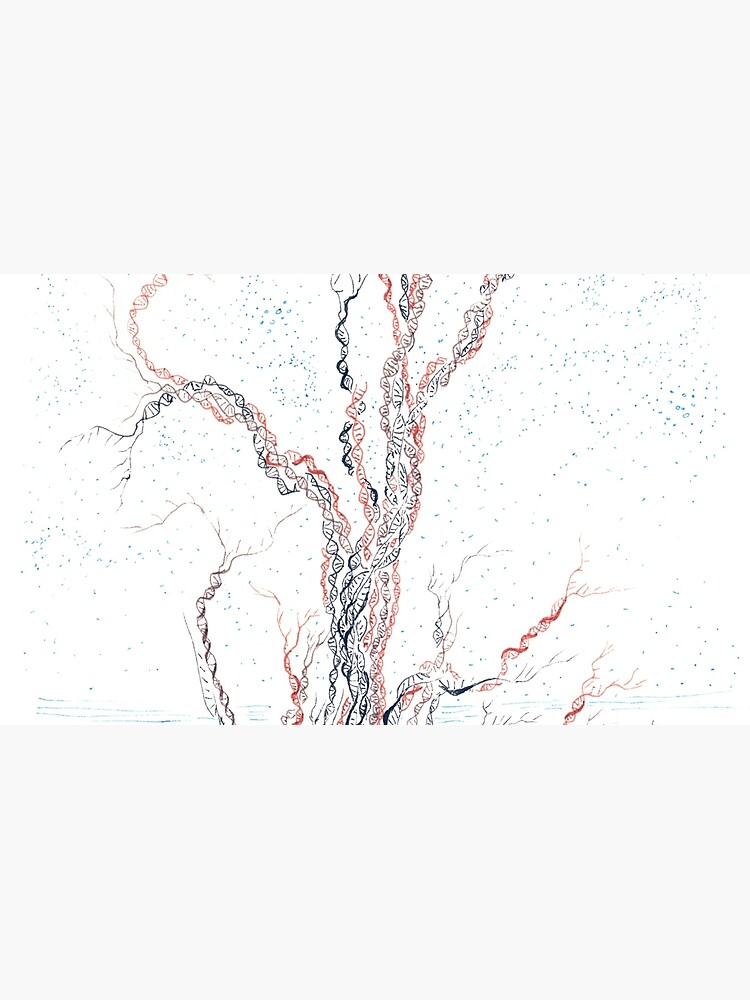Genetic branches (hand drawn ink on paper) by rvalluzzi