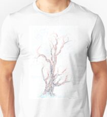 Genetic branches (hand drawn ink on paper) Slim Fit T-Shirt