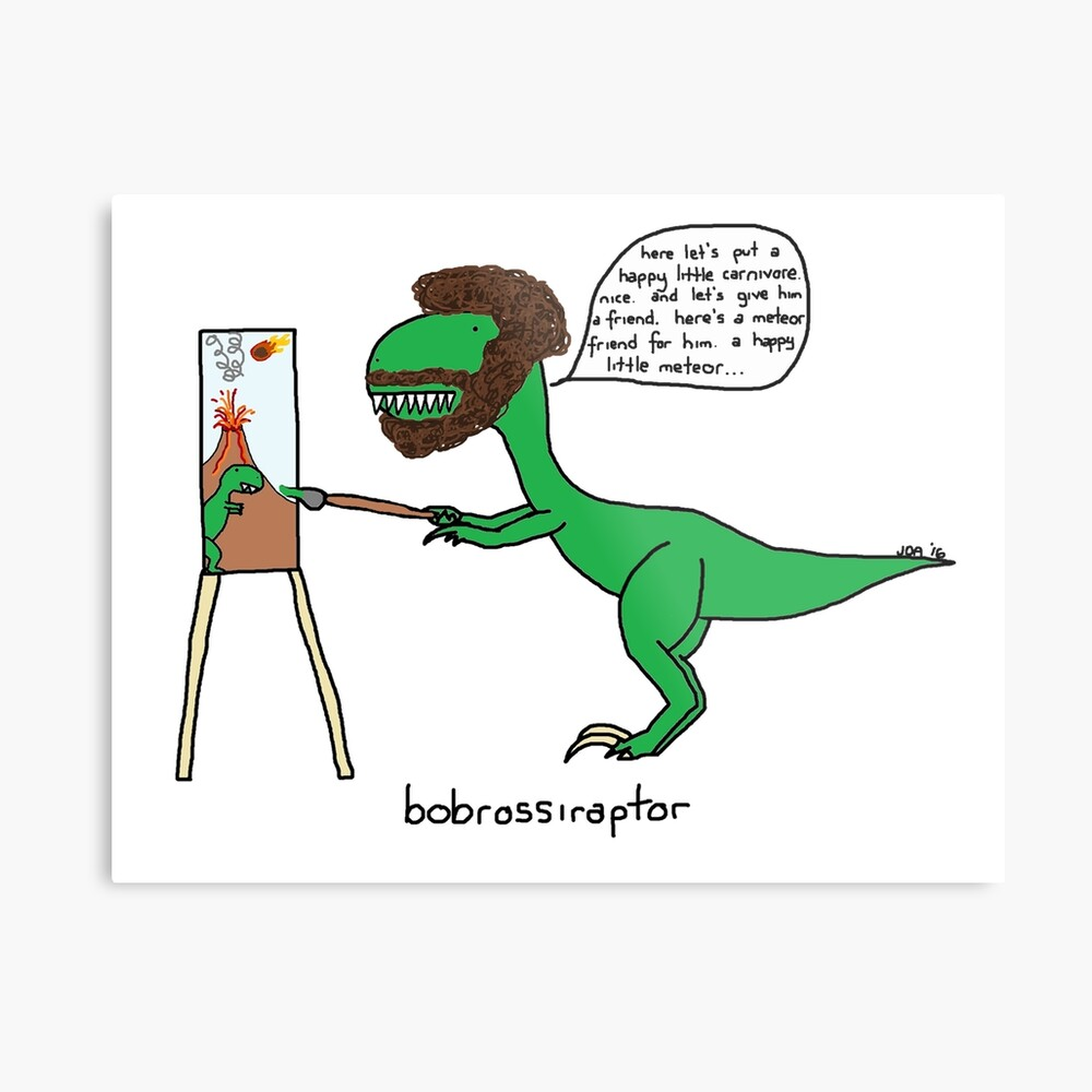 Bobrossiraptor Lienzo metálico