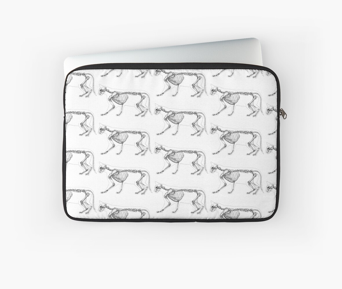 Cat Skeleton Laptop Sleeves By Sonja Schouten Redbubble