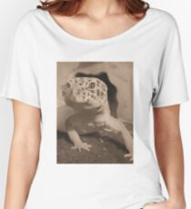 Sepia leopard gecko Women's Relaxed Fit T-Shirt