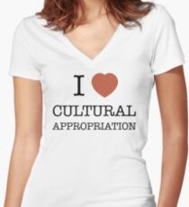 I Heart Cultural Appropriation Chinese Women's Fitted V-Neck T-Shirt