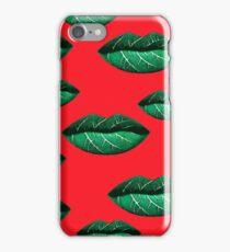 Green Lips Pattern iPhone Case/Skin