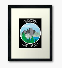 Camp Earth Framed Print