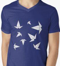 Origami Peace Cranes - Mint Men's V-Neck T-Shirt