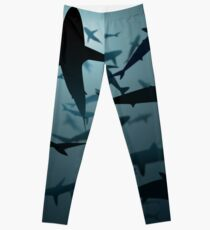 Sharks, Lots and Lots of Sharks Leggings
