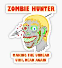 Zombie Hunter Funny Cartoon Walker Undead Head Sticker