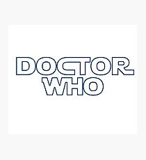Doctor Who in Star Wars Font Photographic Print