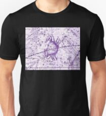 Astrology in Purple Unisex T-Shirt