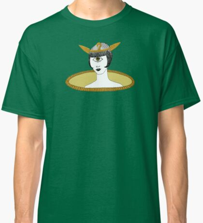 Cyclops Louise Brooks as Egyptian Valkyrie with All-Seeing Eye Classic T-Shirt