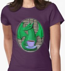 Book Hoarding Green Dragon with Tea T-Shirt