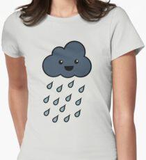 Happy Rain Cloud 3 Women's Fitted T-Shirt