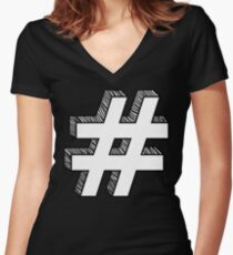 Infamous Sign Women's Fitted V-Neck T-Shirt