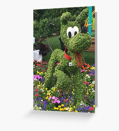 Playful Pluto Greeting Card
