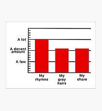 Rhymes to Gray Hairs Bar Graph Photographic Print