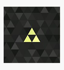 Triforced (The Legend Of Zelda Triforce) Photographic Print