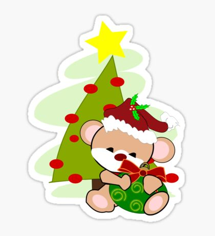 Christmas Teddy  (2305   Views) Sticker