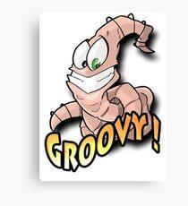 Groovy Worm  Canvas Print