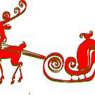 Reindeer Tee (2808  Views) by aldona