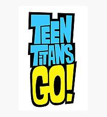 Teen Titans Go! Logo Photographic Print