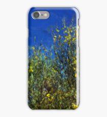 Broom Shrubs under Blue Sky iPhone Case/Skin