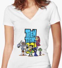 Teen Titans Go! Women's Fitted V-Neck T-Shirt
