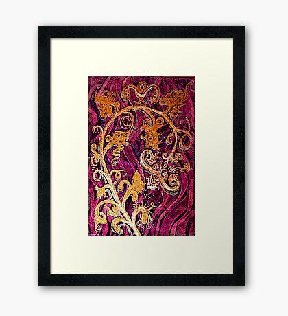 Thai Patterns an acrylic painting Framed Print