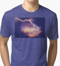 Storm Clouds and Lightning 2 Tri-blend T-Shirt