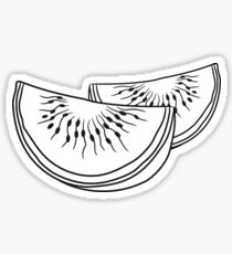 melon slices 2 pieces few watermelon eating delicious Sticker