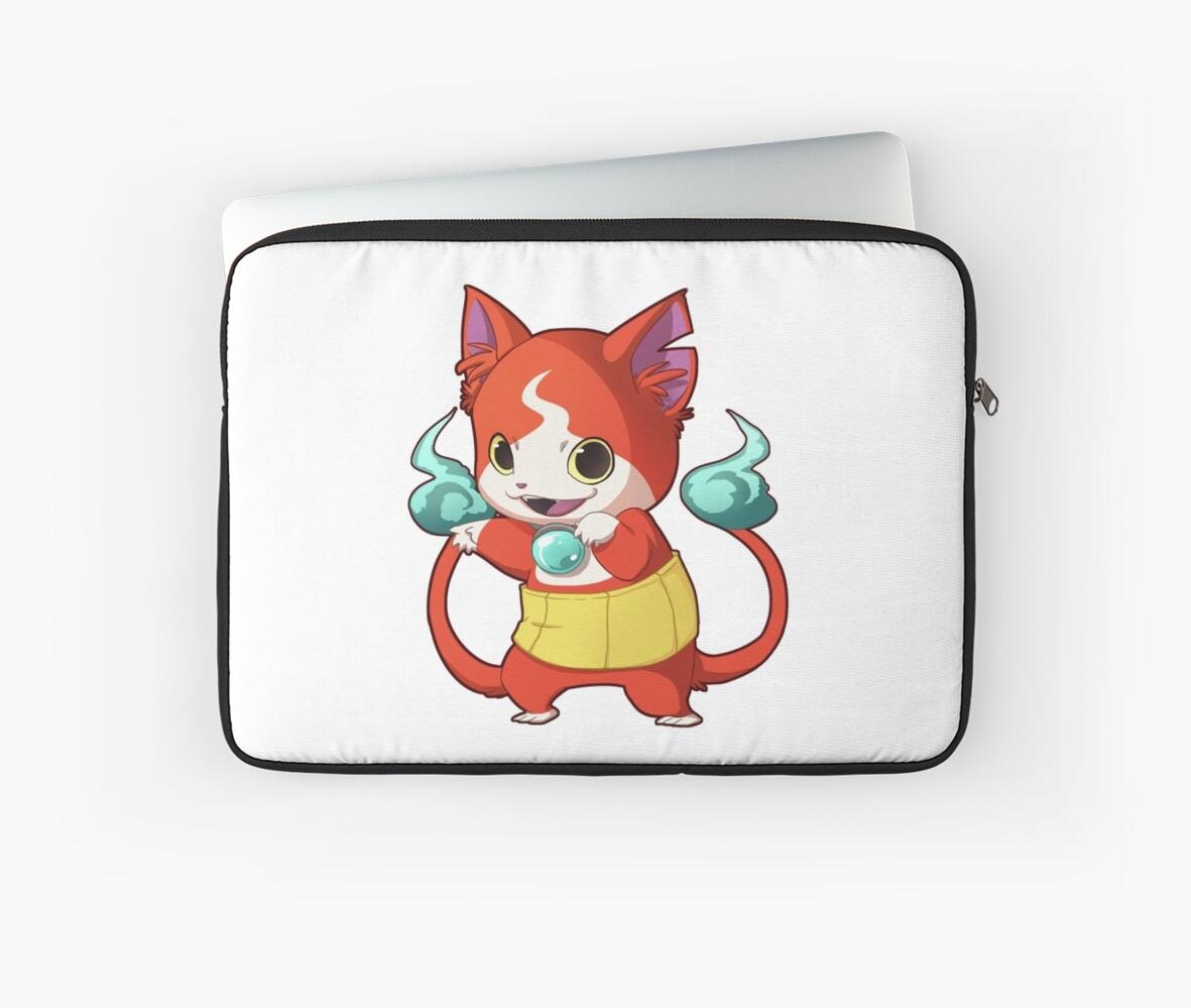 yokai watch laptop sleeves by carnet redbubble
