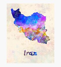 Iran in watercolor Photographic Print