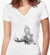 Gyro Captain Women's Fitted V-Neck T-Shirt