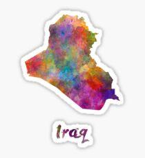 Iraq in watercolor Sticker
