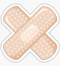 Get Well Bandaid Sticker