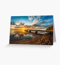 Sunrise at the lake Greeting Card