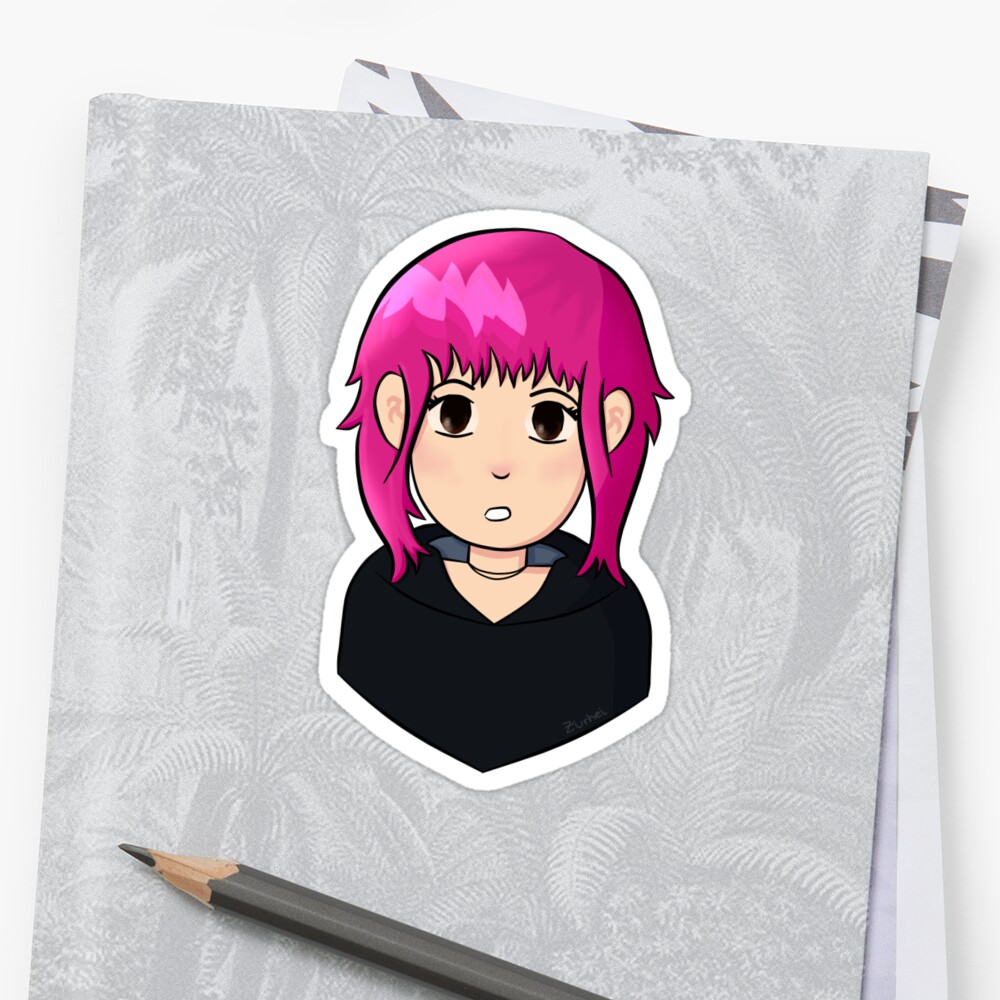 Ramona Flowers Pink Hair Stickers By Zurhei Redbubble