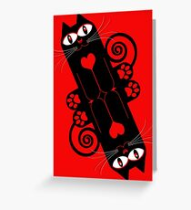 LOVECAT 2 Greeting Card