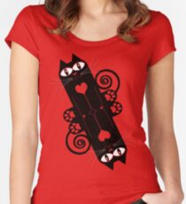 LOVECAT 2 Women's Fitted Scoop T-Shirt