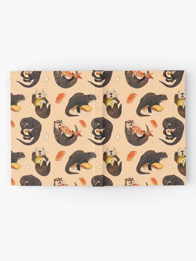 Alternate view of Tiny otters and their sushi Hardcover Journal