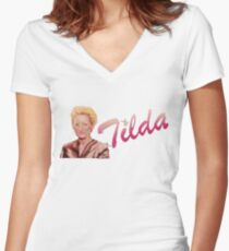 Tilda Swinton (Kimmy Schmidt) Women's Fitted V-Neck T-Shirt