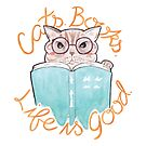 Books. Cats. Life is Good by arosecast