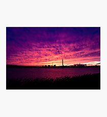 Antwerp Harbor Sunset Photographic Print