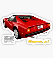 Ferrari 308 GTS from Magnum, p.i. Sticker