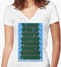 Megaman Climber Women's Fitted V-Neck T-Shirt