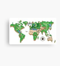 Mario World Map Canvas Print