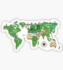 Mario World Map Sticker