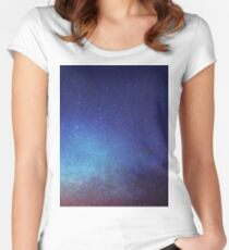 Night sky Women's Fitted Scoop T-Shirt