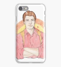 Watercolour Fanart Illustration of Malcolm 'Mal' Reynolds from Joss Whedon's Firefly iPhone Case/Skin