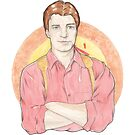 Watercolour Fanart Illustration of Malcolm 'Mal' Reynolds from Joss Whedon's Firefly by arosecast