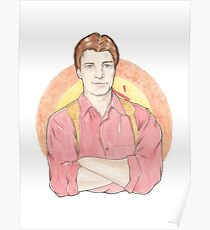 Watercolour Fanart Illustration of Malcolm 'Mal' Reynolds from Joss Whedon's Firefly Poster